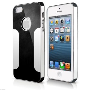BRUSHED ALUMINIUM BACK CASE COVER FITS IPHONE 5S 5 4 4S