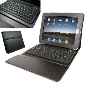 Leather Case with Bluetooth Keyboard Stand for Apple iPad 2, 3 & 4 BUNDLE Black