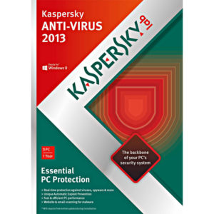 KASPERSKY lab Anti-Virus 2013 – 3 PCs – 1 Year