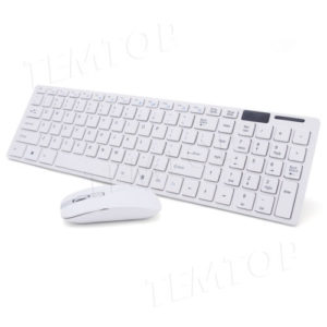 2.4G Slim White Wireless Keyboard And Mouse Set for Apple Mac PC/Laptop Nano USB
