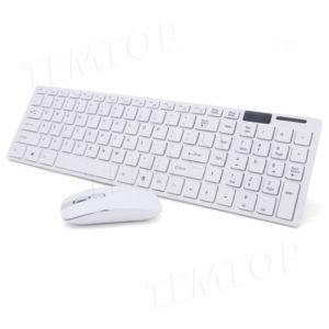 2.4G Slim White Wireless Keyboard And Mouse Set for Apple Mac PC/Laptop Nano USB