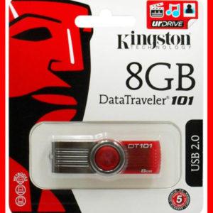KINGSTON 8GB USB MEMORY STICK PEN FLASH DRIVE CARD SWIVEL DATATRAVELER
