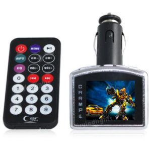 "1.8"" In-Car FM Radio Transmitter MP3 MP4 Video Player SD MMC USB Remote Control"