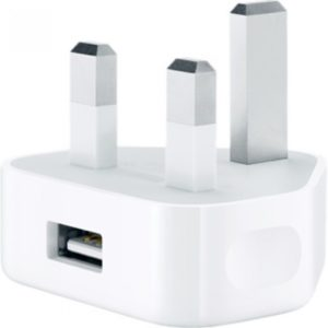 UK Mains USB Wall 3 Pin Power Plug Charger Adapter For iPhone,Samsung, HTC