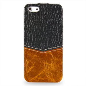 TETDED Premium Genuine Cowhide Leather Case for iPhone 5 / 5S