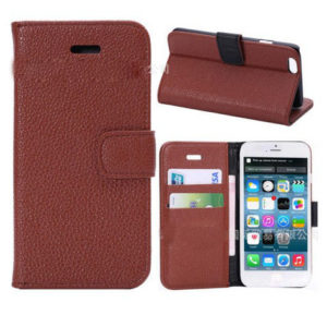 "2014 New Luxury Cover Wallet Case For Apple Iphone 6 4.7"" Durable Brown Color"