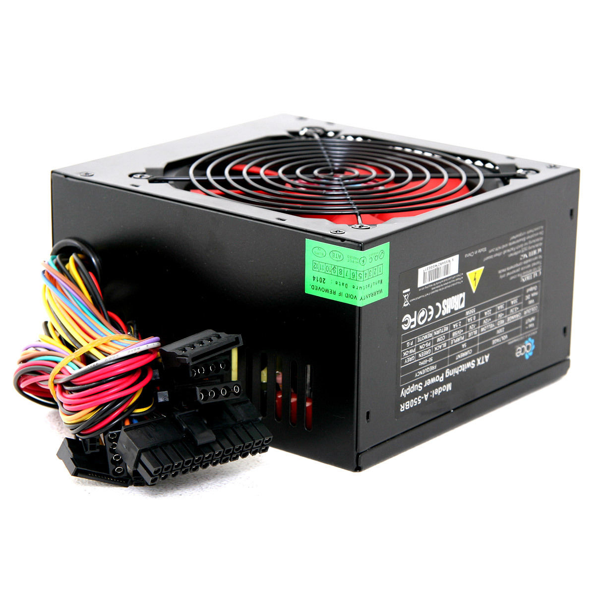 ACE 550W Black ATX Gaming PC PSU Power Supply 120mm Red – Oxford ...
