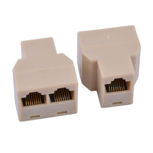RJ45 8 Pins 1 Female to 2 Female Telephone Splitter Connector Adapter