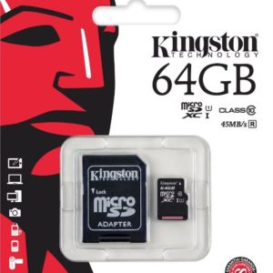 KINGSTON 64GB MICRO SD MEMORY CARD