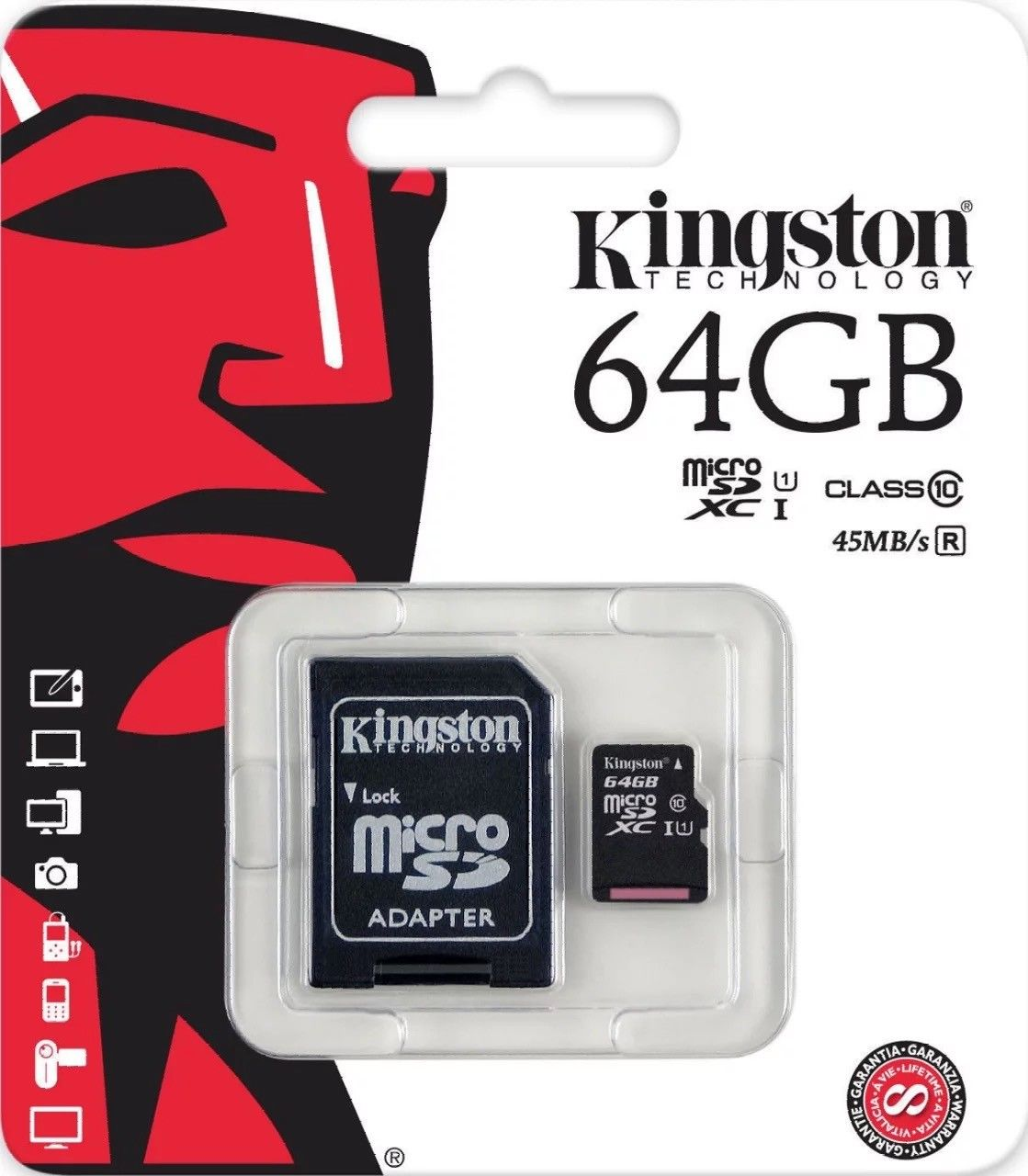 80MBs Works with Kingston Professional Kingston 64GB for Spice Mobile Stellar 519 MicroSDXC Card Custom Verified by SanFlash.