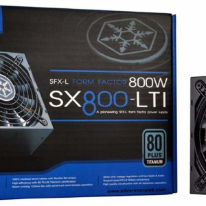 800W Silverstone Strider SX800-LTI PSU, 80PLUS Titanium, Fully Modular, 66A +12V